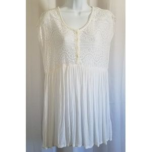 White Lace Swim CoverUp by Volcom